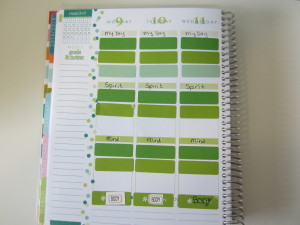 picture of decorated Erin Condren planner